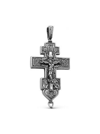 """Фото - Крест мощевик """"Распятие Христово"""" с молитвой (арт. М-022 ч)"""