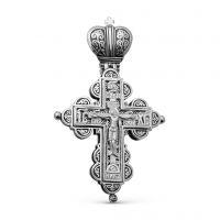 """Крест мощевик """"Распятие Христово"""" с молитвой (арт. М-016 ч)"""