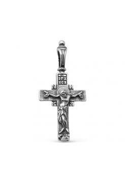 """Нательный православный крест """"Распятие Христово"""" с молитвой"""