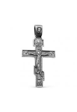 Нательный крест Распятие Христово с молитвой (арт.  3-255 ч)