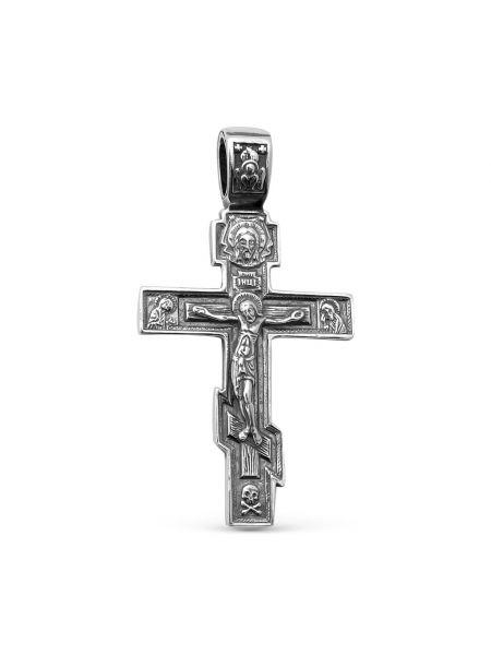 Нательный крест Распятие Христово с молитвой