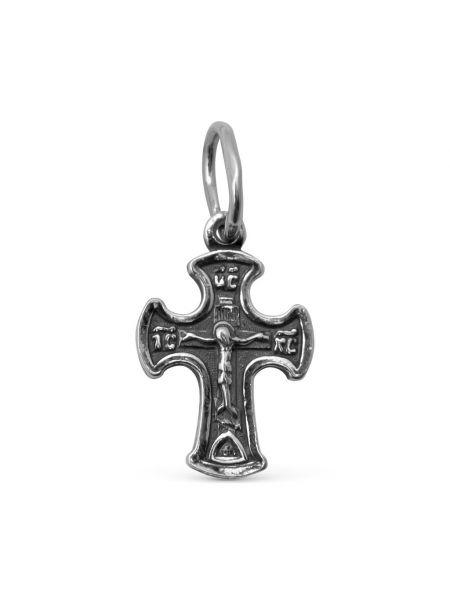 """Нательный крест Распятие Христово с молитвой """"Спаси и сохрани"""""""