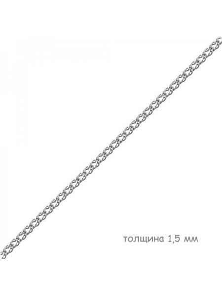 Цепочка родированная двойной ромб (арт. Ц1РМ27РО052070)