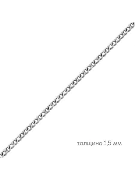 Цепочка родированная панцирная (арт. Ц1ПН17РО052080)
