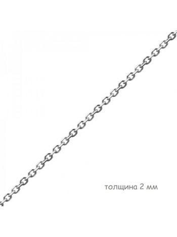 Фото - Цепочка родированная якорная с алмазной гранью (арт. Ц1ЯК17РО018050)