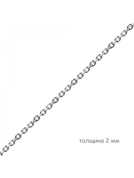 Цепочка родированная якорная с алмазной гранью (арт. Ц1ЯК17РО018050)