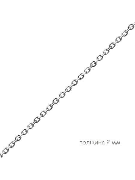 Цепочка родированная якорная с алмазной гранью (арт. Ц1ЯК17РО018060)
