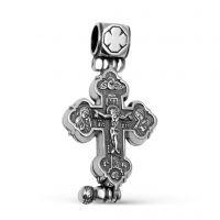 """Крест мощевик """"Распятие Христово"""" с молитвой (арт. М-020 ч)"""