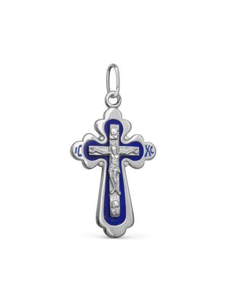"""Нательный крест """"Распятие Христово"""" с эмалью"""