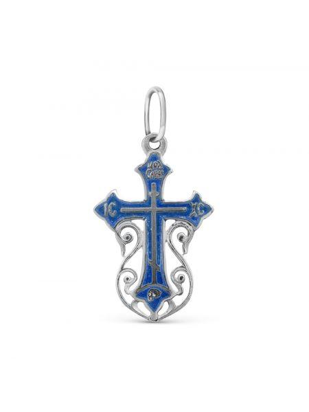 """Нательный крест """"Голгофа"""" серебряный"""
