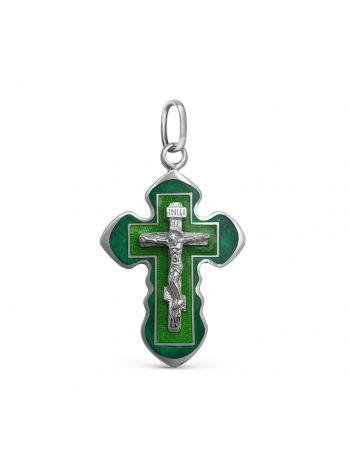 Нательный крест с Распятием и молитвой «Спаси и сохрани» (арт. Э20036)