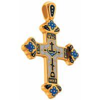 """Нательный крест """"Голгофа"""" из серебра"""