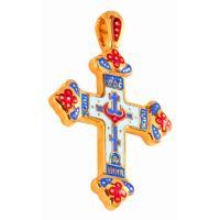 """Нательный крест """"Голгофа"""" позолоченный"""
