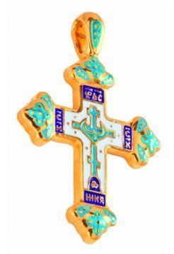 """Позолоченный нательный крест """"Голгофа"""""""