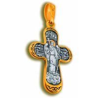 """Нательный крест """"Ангел Хранитель"""" малый позолоченный"""