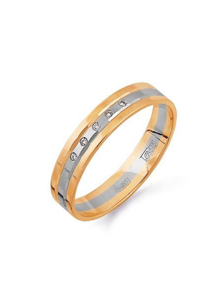 Обручальное кольцо с бриллиантами (арт. Т131613708)