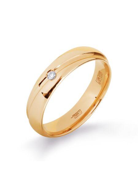 Обручальное кольцо с бриллиантом (арт. Т101013834)