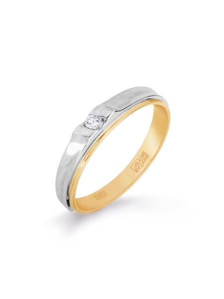 Обручальное кольцо с бриллиантом (арт. Т131011119)