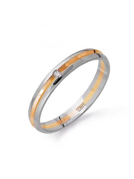 Обручальное кольцо с бриллиантом (арт. Т131613703)